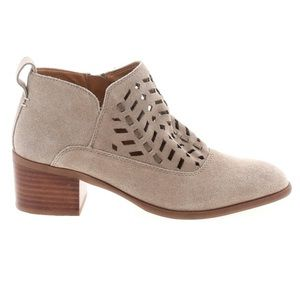 FRANCO SARTO 7 RORY tan suede laser cut ankle boot